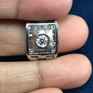 Diamond White Gold Watch Link Flex Ring